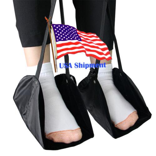 Portable Flight Seat Foot Rest Carry-on Footrest Travel Office Feet Hammock BK Travel