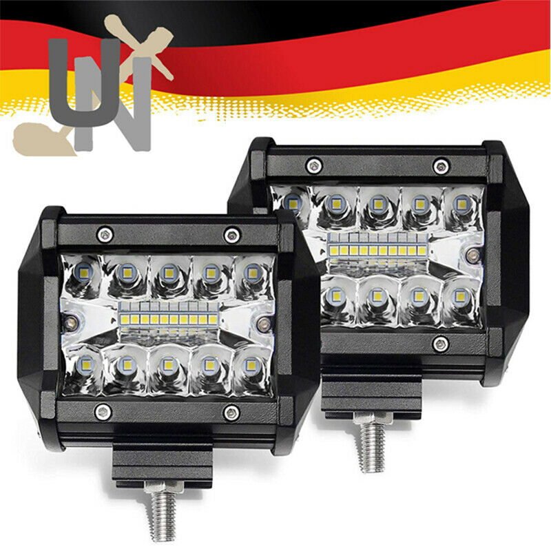 4X 48W JEEP Arbeitsscheinwerfer LED Offroad Scheinwerfer Bagger SUV 12V-24V IP67