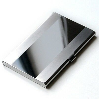 Stainless Steel Business Bank Card Holder Case Box Book Wallet Folder Dispencer