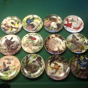 Porcelain Plates.  Audubon Society. First Edition.