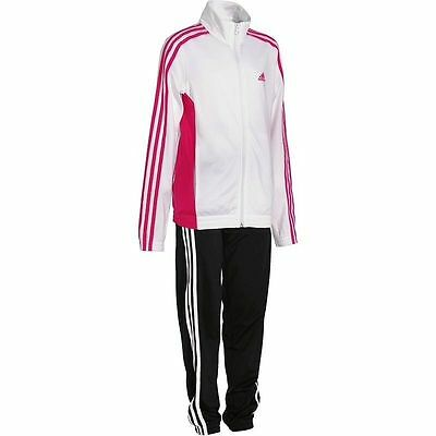 Girls Adidas Tracksuit Age 13-14 Years White Black Decadia Tracksuit Gym