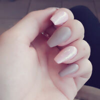Hair extensions for full set of nails+fill