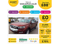Red Ford Ranger 3.2TDCi 4x4 1 auto 2016MY Limited FROM £88 PER WEEK!