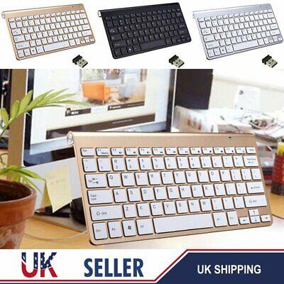 Wireless Slim Keyboard Key Board For Apple iMac iPad Android Phone Tablet PC UK