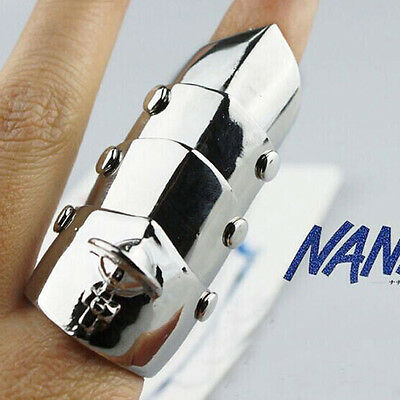 Rock Gothic Anime NANA Ai Yazawa Logo Metal Armour Ring Cosplay Knuckle Ring - Halo Armor Cosplay