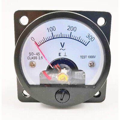 Round Analog Dial Panel Meter Voltmeter Gauge Fine Tuning Voltmeter Ac 0-300v