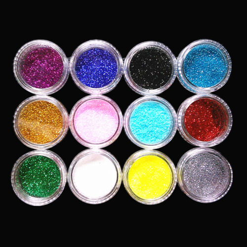 Nail Art Glitter Powder Dust UV Gel Acrylic Powder Sequins Christmas Nails Tips