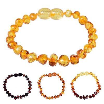 DIY Genuine Baltic Amber Baby Teething Anklet Bracelet SAFE Knotted Chip Beads](Diy Safe)