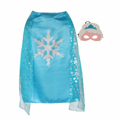 Frozen {Elsa} Cape & mask set  dress~up & Halloween Ideas(: ~NEW~