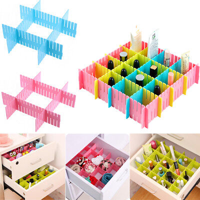 4Pcs Diy Adjustable Drawer Divider Socks Clothes Storage Box Organizer Wardrobe