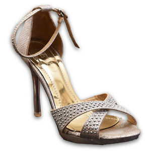 Pre-owned silver high heels