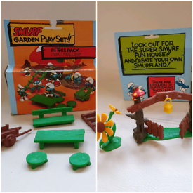 Smurf playsets vintage 1980s toys with boxes £10 each From a pet and s