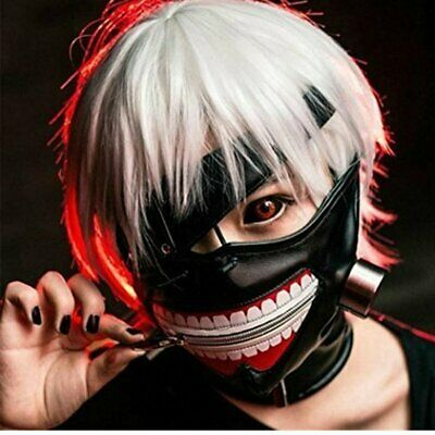 Wig Masken Kostüme Set Ken Kaneki Cosplay Halloween Karneval (Ken Halloween-kostüm)