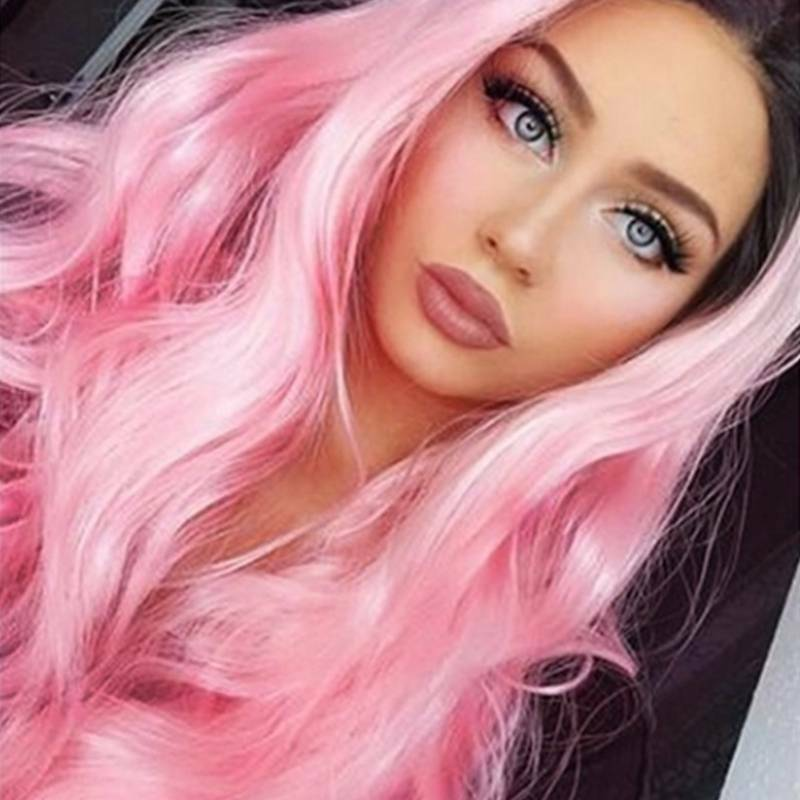 Women's Ombre Gradient Long Curly Hair Wig Body Wavy Cosplay Party Wigs Daily Hair Care & Styling