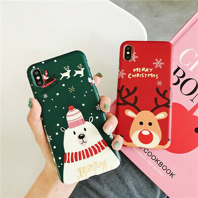 Hard Christmas Phone Case Back Cover For Apple iPhone XS Max X Plus 8 2019 ws ()