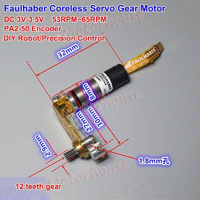 Faulhaber Mini Dc 3v Corless Motor Precision Encoder Micro Servo Motor Diy Robot