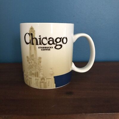 2012 Starbucks Coffee Cup You Are Here Chicago Mug Cardinal Gift Idea!