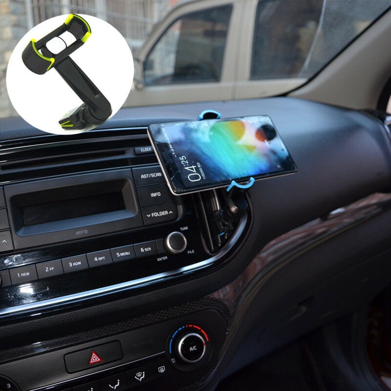 360° Car Air Vent  Rocker Arm Mobile Clip Mount Cradle Phone Holder For Samsung