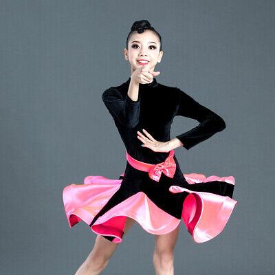 Kinder Mädchen Latein Kleid Ballsaal Wettbewerb Tanzbekleidung Tanz Kostüm (Tanz Kostüm Latein Wettbewerbe)