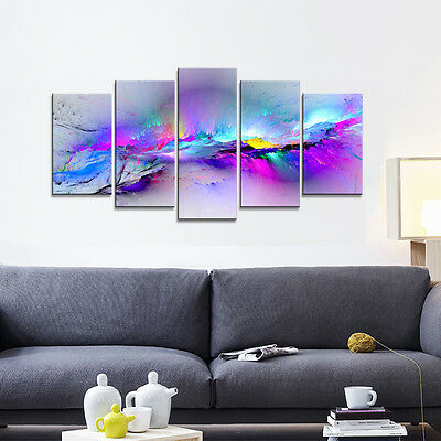 Abstract Canvas Print Painting Pic Photo Home Decor Wall Art Purple Framed