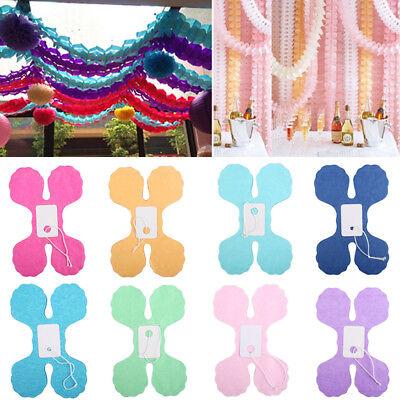 3m Hanging Garland String Tissue Paper Clovers Wedding Birthday Party Home Decor (Tissue Garland)