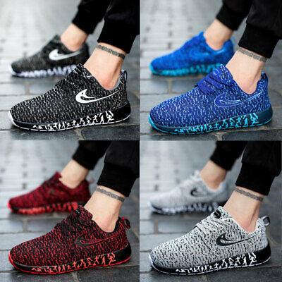 Men Women Slip On Memory Foam Casual Walking Running Gym SPORT Trainers Shoes UK