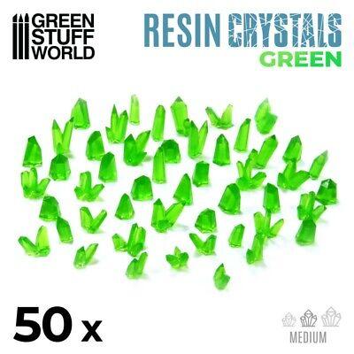 Cristales de Resina VERDE - Medianos - Texturas Escenografia Warhammer 40k
