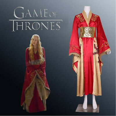 Queen Cersei Lannister Cosplay Game of Thrones Costume Fancy Dress Outfits Suits - Cersei Lannister Dresses