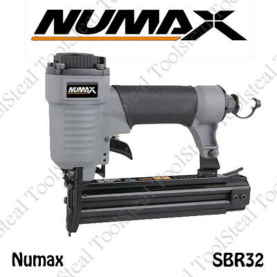 Numax SBR32 Pneumatic 1-1/4 in. x 18-Gauge Strip Brad Nailer w/Full Warranty ()