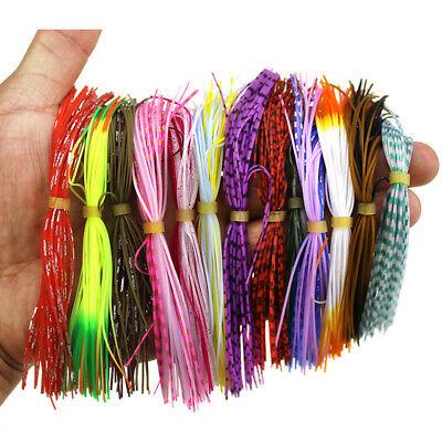 10pc Umbrella skirts DIY Buzzbaits Spinner Buzz Bait fishing Silicone skirt 102