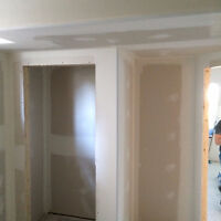 Mudding, Taping and sanding ready for painting. Residential and