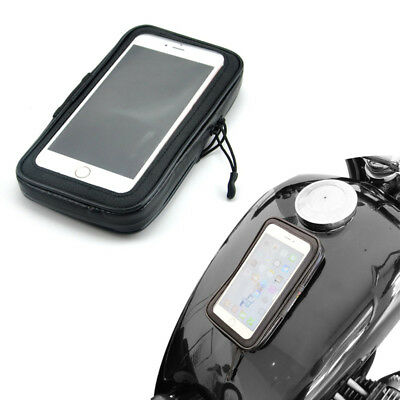 Motorcycle Magnetic Fuel Tank Bag Gas Bag iPhone Cell Phone Pouch Phone Holder, used for sale  USA