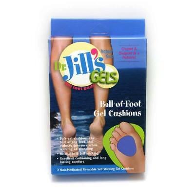 Jills Gel Metatarsal Cushion - Dr. Jill's Gel Ball-of-Foot Cushions, Thick or Reg Metatarsal Callus Pads, 2/Box