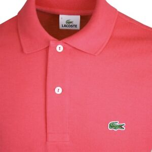 LACOSTE - 'Living Coral' top, Made in Morocco, Size 44.