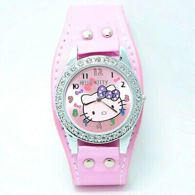 Crystal Hello Kitty Wrist Watch Ladies Girls Gift Party Bag Stocking Filler