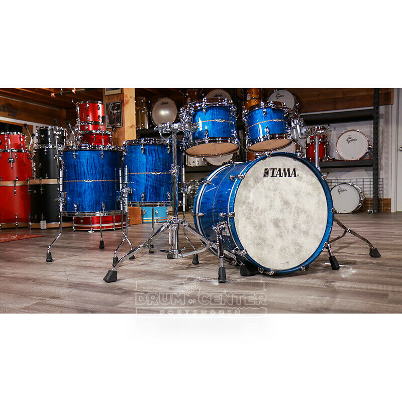 Tama Star Maple 5pc Shell Pack - Ocean Blue Curly Maple