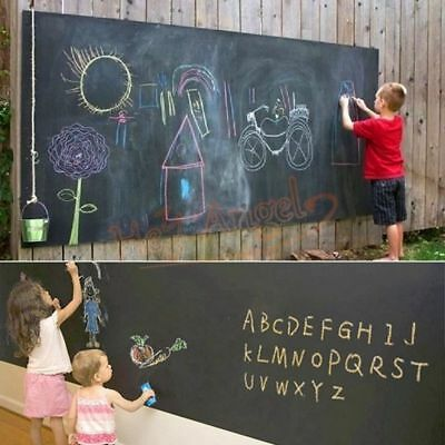 Removable Chalk Board Blackboard Vinyl Wall Sticker Decal Chalkboard 78 X17