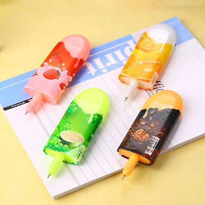 0.38mm Ice Cream Shaped Gel Pen Black Ink Rollerball Pen Study Supplies Cute - Ice Cream Supplies