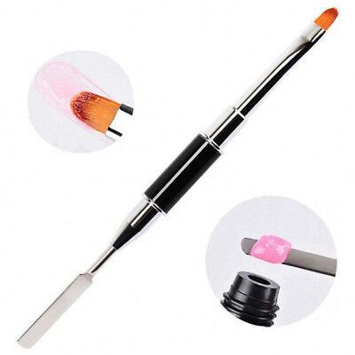 1pcs UV PolyGel Poly Gel Nail Brush Dual-ended Slice Shape Tool For Nail Tips