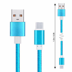 USB Type-C to A 2.0 3.1 Nylon Braided Charging Data Sync Cable