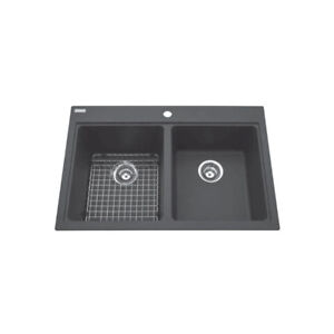 Kindred KGDL2233/9 33 x 22 Double Bowl Granit Sink Espresso