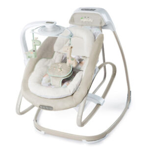 Baby swing and rocker - LIKE NEW - PET and SMOKE FREE HOME