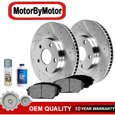 Front Disc Brake Rotors & Ceramic Pads for 2002- 2010 Dodge Ram 1500 5-LUG