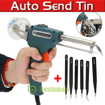 110v Manual Soldering Gun Electric Iron Auto Soldering Machine Kit Tool Tweezer