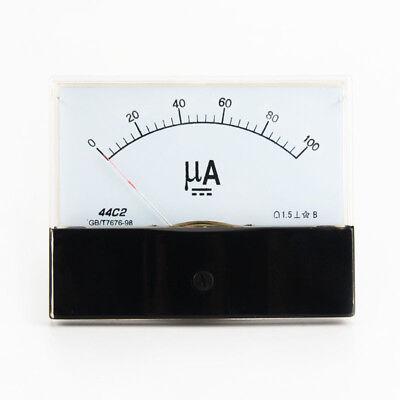 Dc 0-100ua Scale Range Current Panel Meter Amperemeter Gauge 44c2 Ammeter Analog