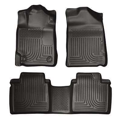 Husky Liners 2007 2011 Toyota Camry WeatherBeater All Weather Floor Mats Black