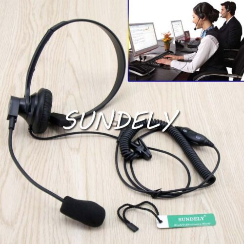 BIG Headset Headphone With Boom Mic For Motorola Two Way