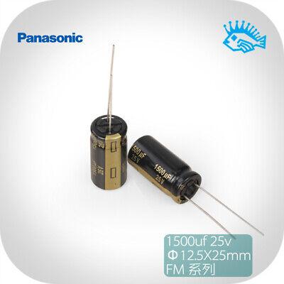 550pcs Panasonic Fm Series 1500uf 25v 12.5x25 Audio Electrolytic Capacitor