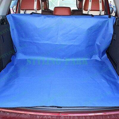 Blue Fabric Car Hatchback Pet Dogs Cats Cargo Liner Protector Organizer Cover