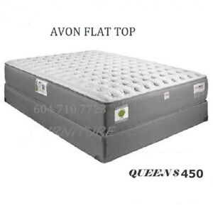 FLAT TOP MATTRESS,BOX SPRING AND MATAL FRAME,SIDE TABLE,